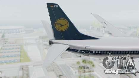 Boeing 737-300 pour GTA San Andreas sur la vue arrière gauche