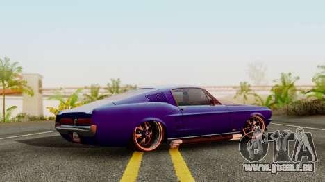 Ford Mustang Fast_back pour GTA San Andreas laissé vue