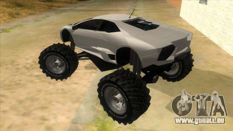 Lamborghini Reventon Monster Truck für GTA San Andreas zurück linke Ansicht