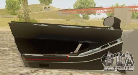 Infernus pour GTA San Andreas vue arrière