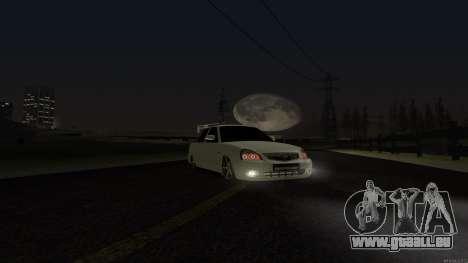 Lada Priora pour GTA San Andreas vue intérieure
