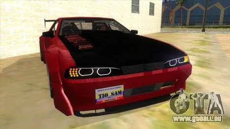 Elegy Tio Sam Style pour GTA San Andreas vue arrière