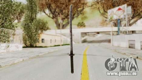 Skyrim Iron Wakizashi pour GTA San Andreas deuxième écran