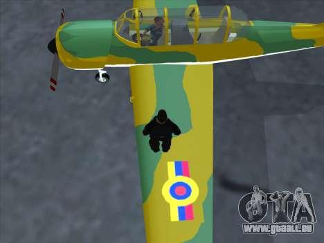 Yak-52 für GTA San Andreas zurück linke Ansicht