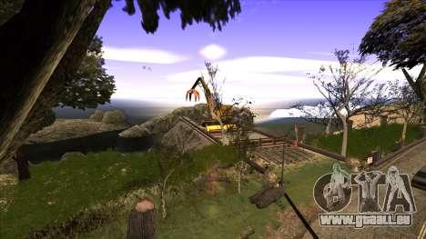 La construction du pont, et la forêt dense pour GTA San Andreas deuxième écran