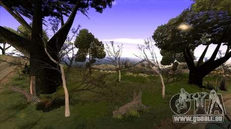 La construction du pont, et la forêt dense pour GTA San Andreas troisième écran