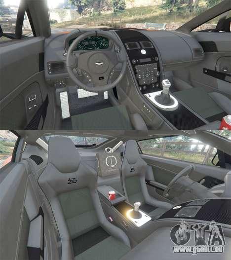 GTA 5 Aston Martin V12 Zagato v1.2 arrière droit vue de côté