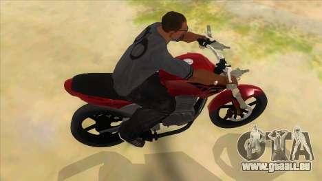 Honda Twister Stunt pour GTA San Andreas vue intérieure