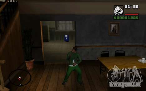 CJ Animation ped pour GTA San Andreas neuvième écran