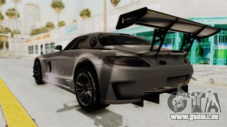 Mercedes-Benz SLS AMG GT3 PJ1 pour GTA San Andreas laissé vue