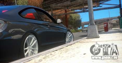 BMW 435i Coupe pour GTA 4 Vue arrière de la gauche