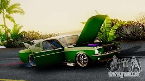 Ford Mustang Fast_back pour GTA San Andreas sur la vue arrière gauche