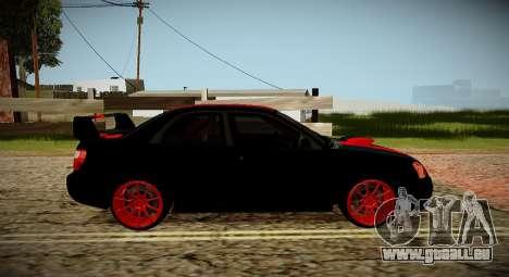 Subaru Impreza WRX STi Bête Noire du Japon pour GTA San Andreas vue de droite