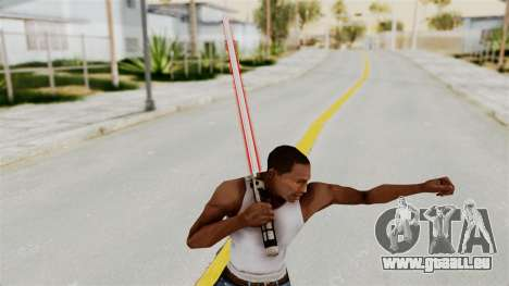 Star Wars LightSaber Red für GTA San Andreas dritten Screenshot