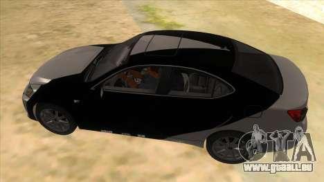 Lexus ISF für GTA San Andreas Unteransicht