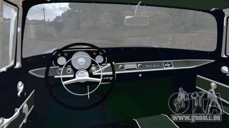 GTA 5 Chevrolet Bel Air Sport Coupe 1957 v1.5 arrière droit vue de côté