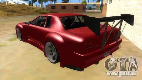 Elegy Tio Sam Style pour GTA San Andreas sur la vue arrière gauche