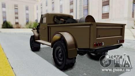 GTA 5 Bravado Duneloader Cleaner pour GTA San Andreas sur la vue arrière gauche