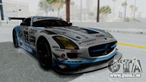 Mercedes-Benz SLS AMG GT3 PJ5 pour GTA San Andreas vue de dessous