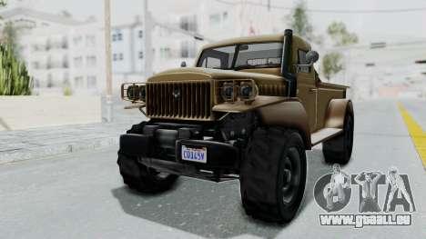 GTA 5 Bravado Duneloader Cleaner pour GTA San Andreas vue de droite