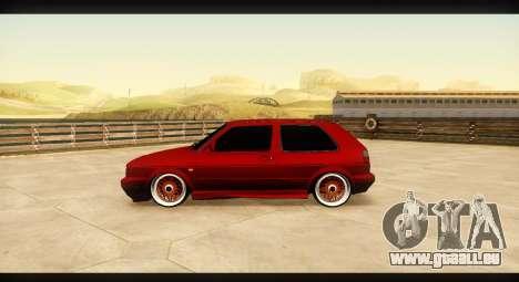 Volkswagen Golf GTI Mk2 pour GTA San Andreas laissé vue