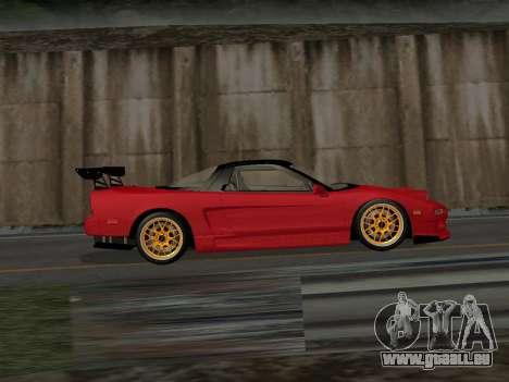 Honda NSX (NA1) Time Attack pour GTA San Andreas laissé vue
