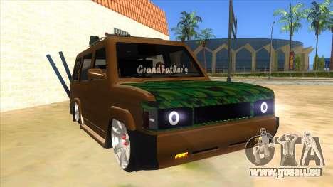 Toyota Kijang Grand Extra Full pour GTA San Andreas vue arrière