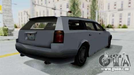 GTA LCS Sindacco Argento v2 pour GTA San Andreas sur la vue arrière gauche