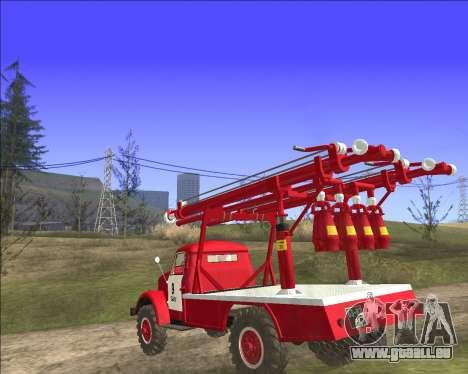 GAZ 63 APG-14 camion de pompiers pour GTA San Andreas sur la vue arrière gauche