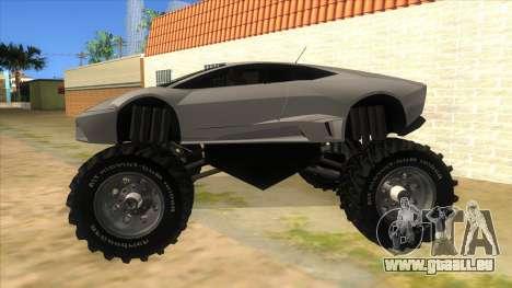 Lamborghini Reventon Monster Truck für GTA San Andreas linke Ansicht