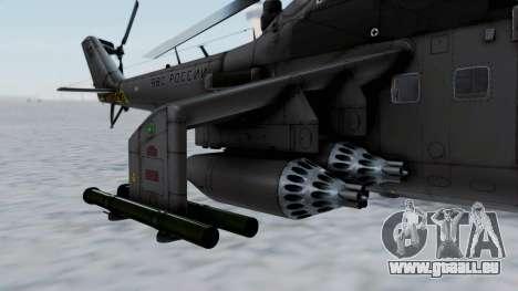Mi-24V Russian Air Force 39 pour GTA San Andreas laissé vue