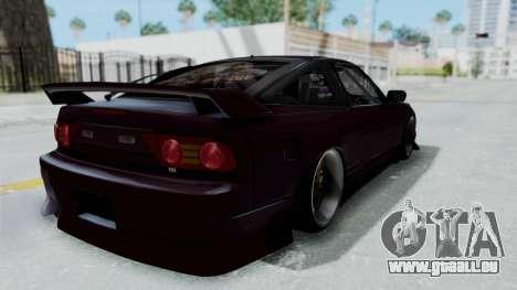 Nissan 180SX TOD für GTA San Andreas zurück linke Ansicht
