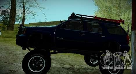 Chevrolet Tahoe LTZ 4x4 pour GTA San Andreas vue de côté