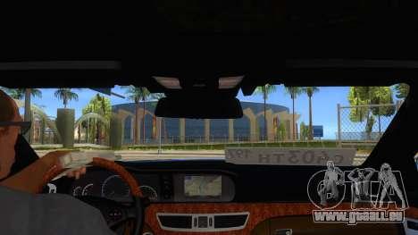 Mercedes-Benz S65 Rus Stance pour GTA San Andreas vue intérieure