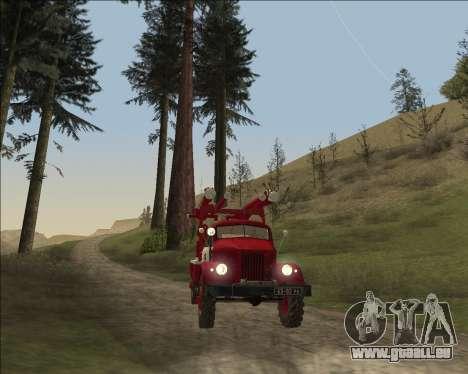 GAZ 63 APG-14 camion de pompiers pour GTA San Andreas vue arrière
