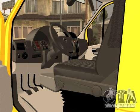 Mersedes-Benz Sprinter Towtruck pour GTA San Andreas sur la vue arrière gauche