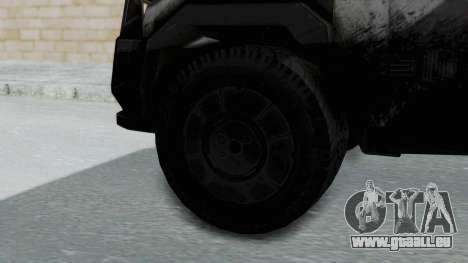 Advanced Warfare Tactical Pickup für GTA San Andreas zurück linke Ansicht