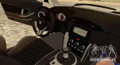 Infernus pour GTA San Andreas vue intérieure