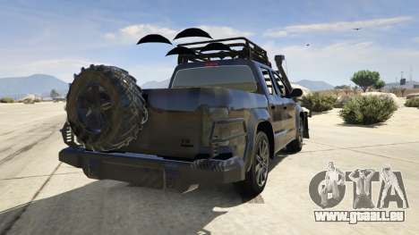 GTA 5 Volkswagen Amarok Apocalypse arrière vue latérale gauche