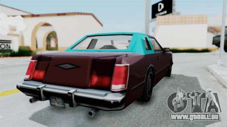 Beta VC Cougar für GTA San Andreas linke Ansicht