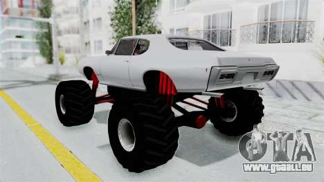 Pontiac GTO 1968 Monster Truck für GTA San Andreas linke Ansicht