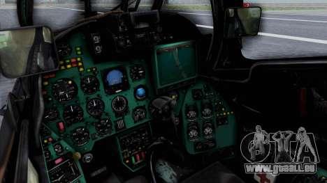 Mi-24V Russian Air Force 39 pour GTA San Andreas vue de droite