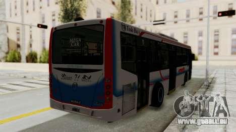 Todo Bus Pompeya II Agrale MT15 Linea 71 pour GTA San Andreas sur la vue arrière gauche