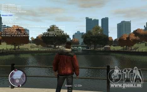 Native Trainer GTA EFLC ENG [STEAM] pour GTA 4 cinquième écran