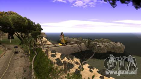 La construction du pont, et la forêt dense pour GTA San Andreas neuvième écran