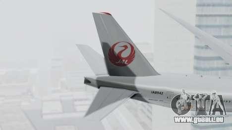 Boeing 777-9X Japan Airlines pour GTA San Andreas sur la vue arrière gauche