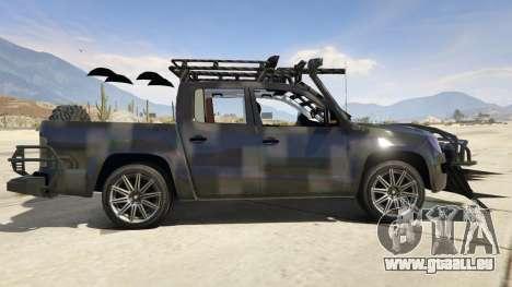 GTA 5 Volkswagen Amarok Apocalypse vue latérale gauche