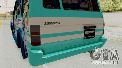 Toyota Kijang Grand Extra Itasha pour GTA San Andreas vue de dessus