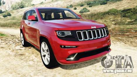 Jeep Grand Cherokee SRT-8 2015 v1.1 pour GTA 5