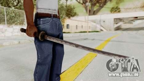 Skyrim Iron Wakizashi pour GTA San Andreas troisième écran